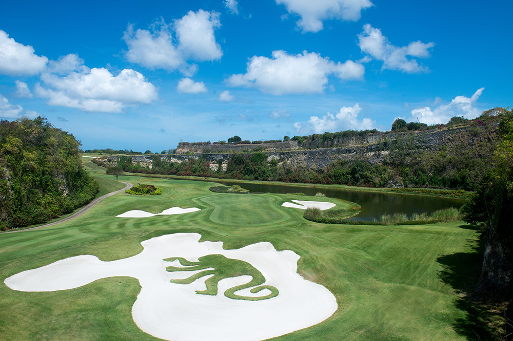 The Green Monkey golf course at Sandy Lane in Barbados