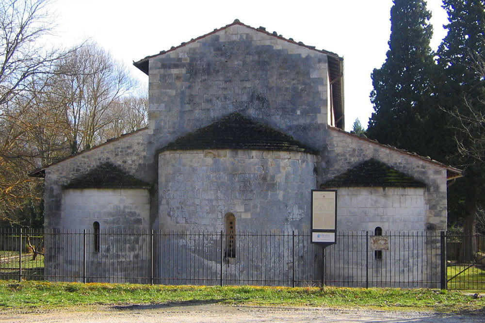 San Pietro ad Oratorium church in Abruzzo, Italy