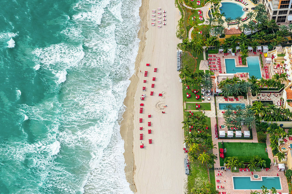 Aerial view at Acqualina Resort & Spa in Miami, Florida, United States
