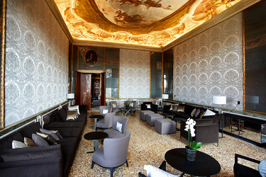 The Del Tiepolo Game Room at Aman Venice in Venice, Italy