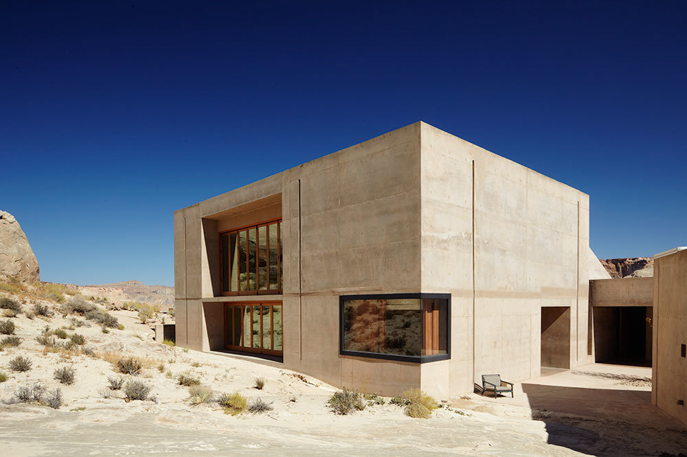 Fitness and yoga studio exterior at Amangiri in Canyon Point, Utah