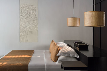 The Contemporary Suite with minamalist design features at Amansara in Cambodia