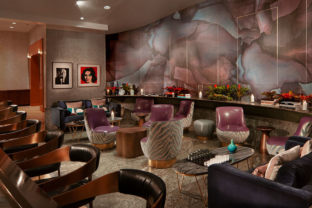 AQ Lounge at Acqualina Resort & Spa on the Beach in Miami, Florida