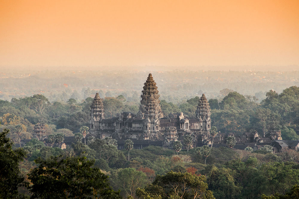 The Angkor Wat temple in Siem Reap, Cambodia
