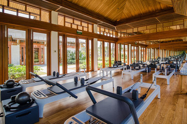 The pilates studio at Azerai Can Tho in Can Tho, Vietnam.