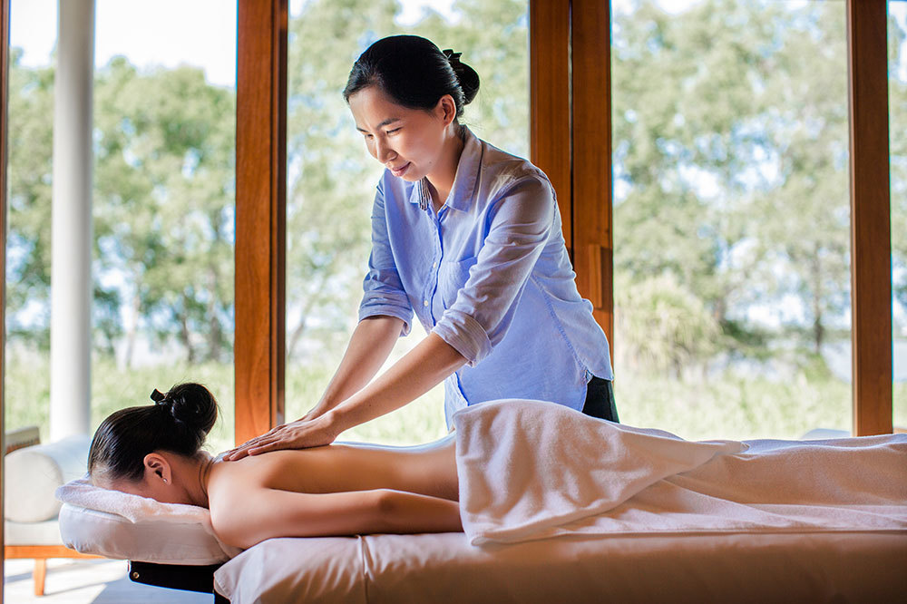A massage at the spa at Azerai Can Tho in Can Tho, Vietnam.
