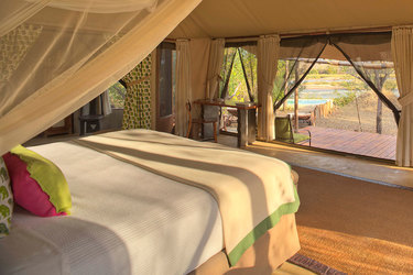 Elephant tented villa at Azura Selous in Tanzania, Africa