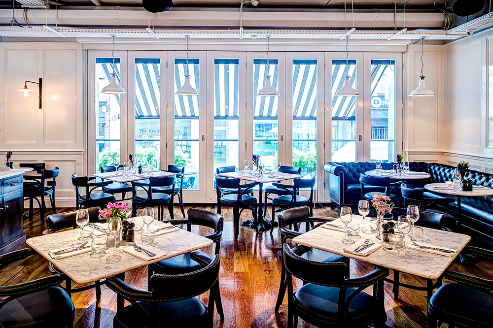 The interior of Balfes restaurant at The Westbury in Dublin, Ireland