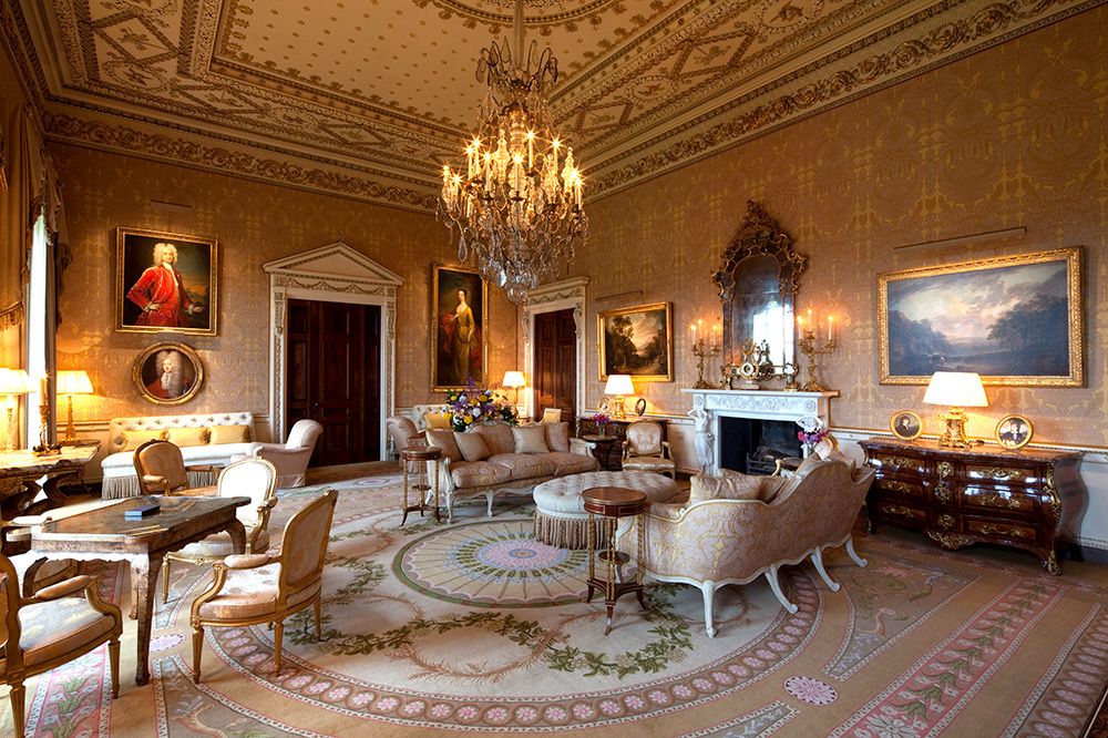 The Gold room at Ballyfin Demesne in Ballyfin, Ireland