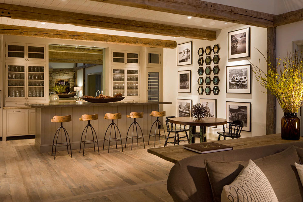 The bar at Scarp Ridge Lodge in Crested Butte, Colorado