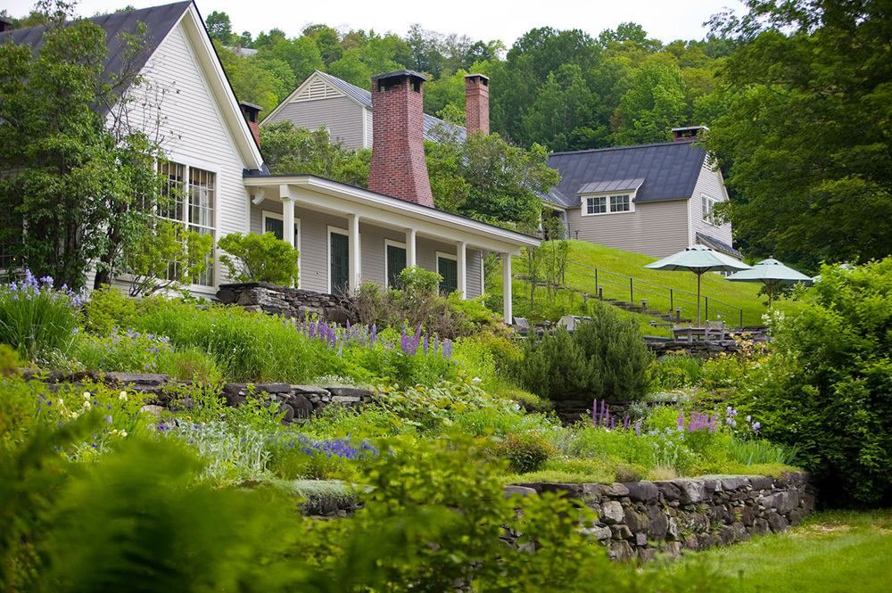 The exterior of the main house at Twin Farms in Barnard, Vermont