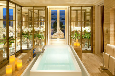 A bath at Four Seasons Hotel George V Paris