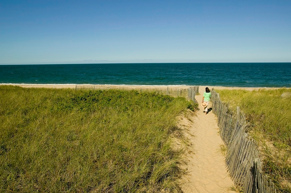 The beach at The Wauwinet in Nantucket, Massachusetts