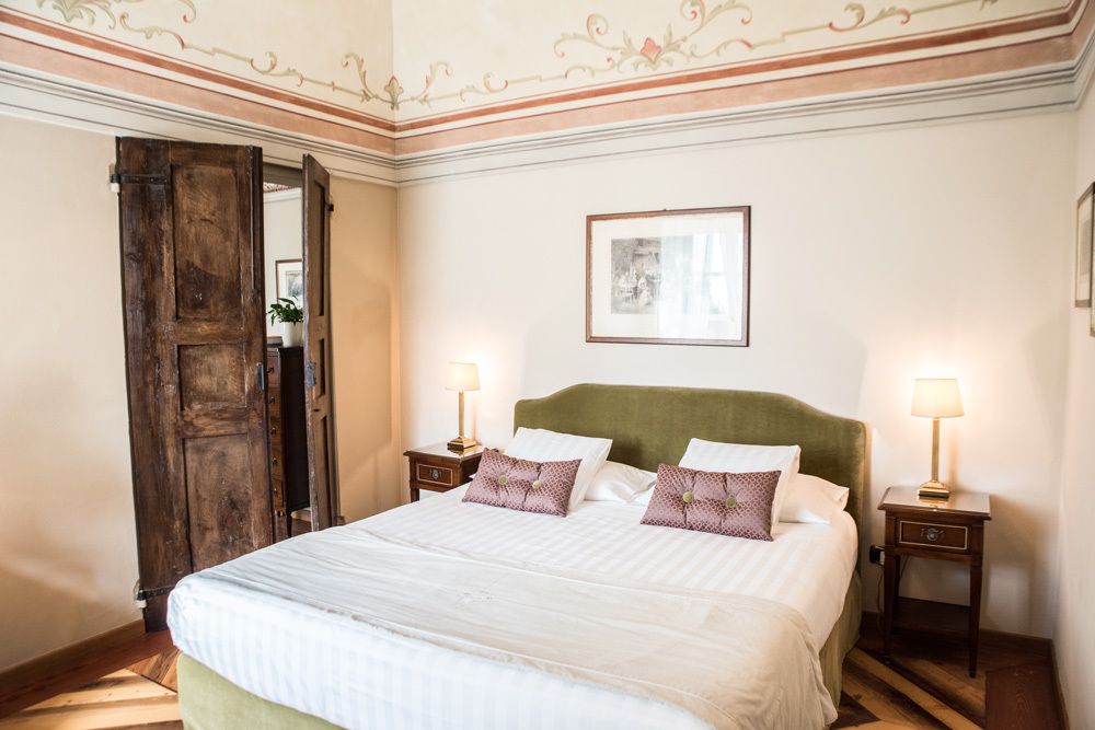 The Bedroom at Relais San Maurizio in Santo Stefano Belbo, Italy