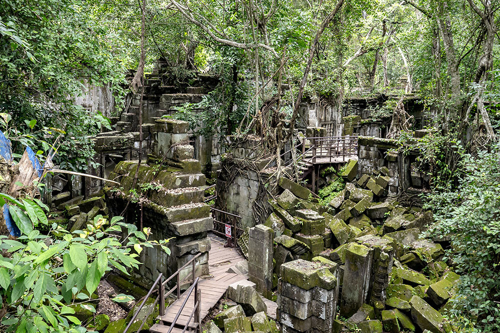 The Beng Mealea temple in Angkor, Cambodia