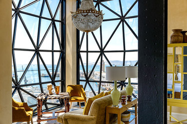 The sitting area of the Deluxe Superior Suite at The Silo in Cape Town, South Africa