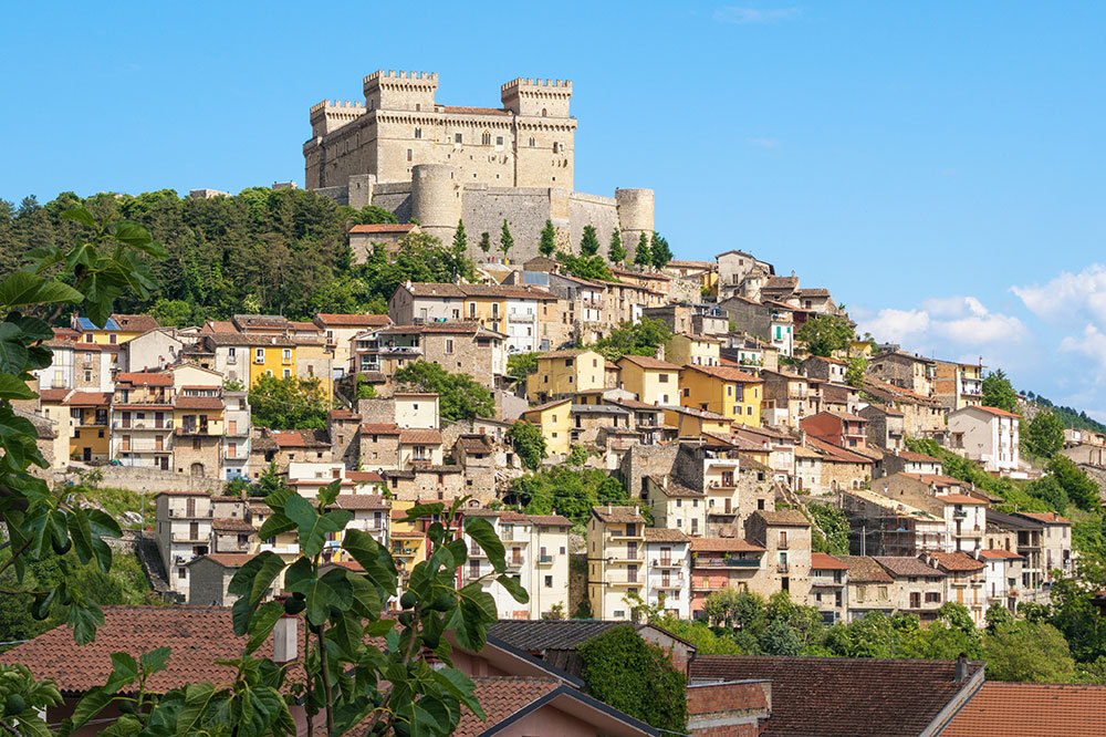 The view of the medieval town of Celano, Italy