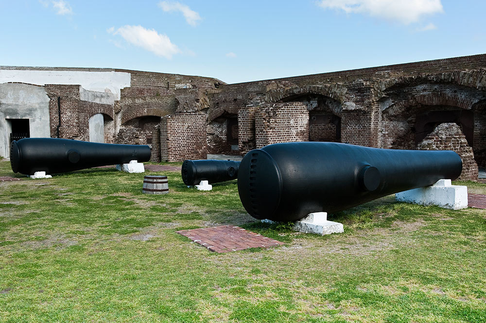 Cannons at Fort Sumter