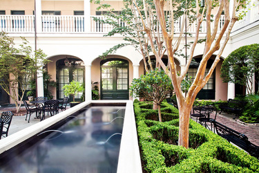 The courtyard of Planters Inn in Charleston, South Carolina