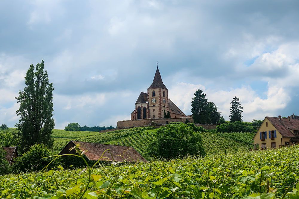 The Church of Saint-Jacques-le-Majeur in Hunawihr, France - Photo by Hideaway Report editor