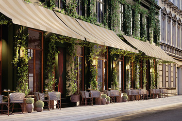 The exterior of Hotel Sanders in Copenhagen, Denmark
