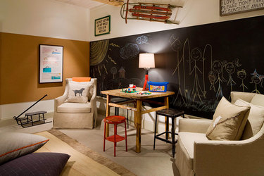 The kid's media room at Scarp Ridge Lodge in Crested Butte, Colorado