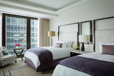 The Deluxe Full Double Room at The Langham in Chicago, Illinois