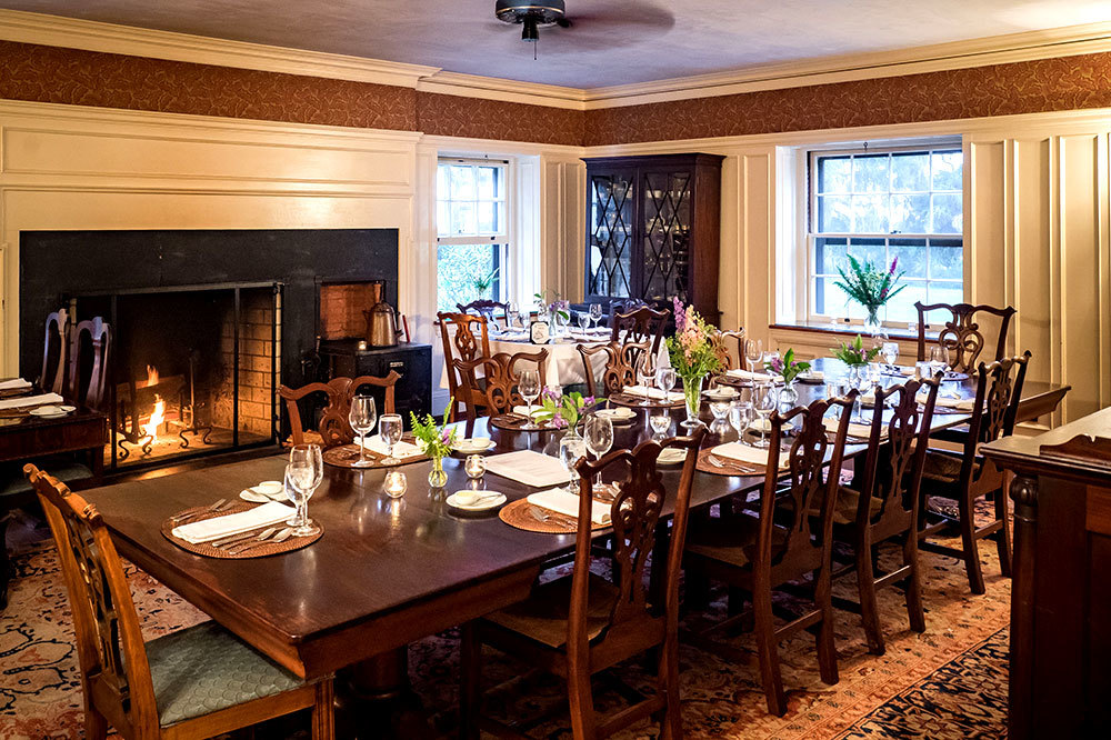 The dining room at Greyfield Inn in Golden Isles, Georgia.