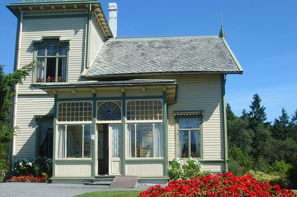 Edvard Grieg Museum and house in Troldhaugen, Norway