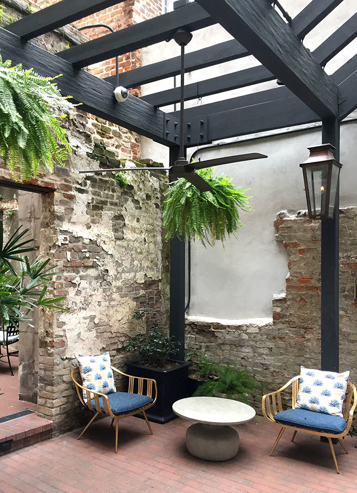 The courtyard at Eliza Jane in New Orleans, Louisiana