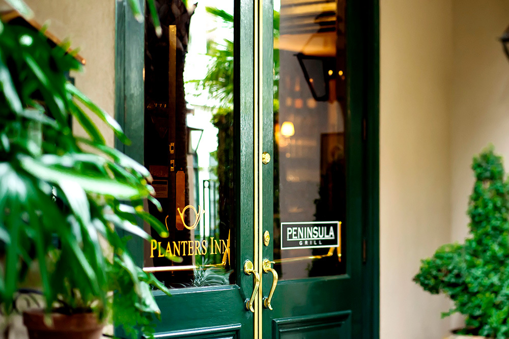 The entrance of Planters Inn in Charleston, South Carolina