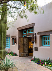 The entrance to Hermosa Inn in Paradise Valley, Arizona
