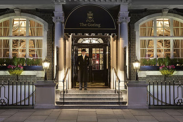 The entrance to The Goring Hotel in London, England