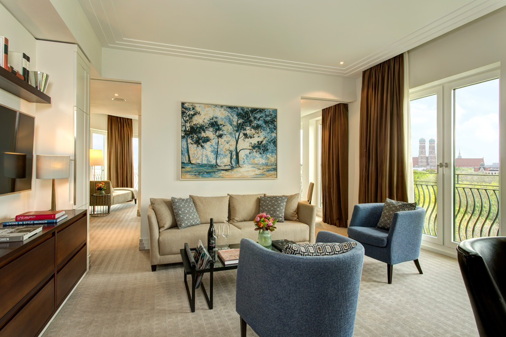 The Executive Suite Livingroom at The Charles Hotel in Munich, Germany