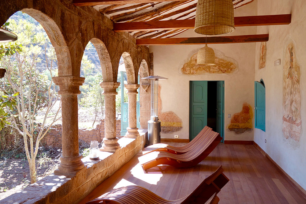 The Spa Pumacahua Bath House at explora Valle Sagrado in the Sacred Valley, Peru