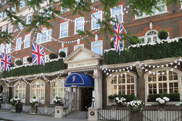 The facade of The Goring in London, England
