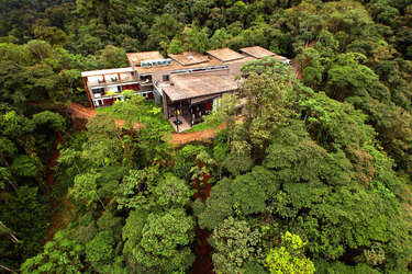Mashpi Lodge Aerial exterior view