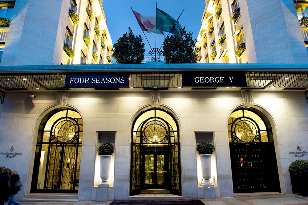 The façade at Four Seasons Hotel George V Paris