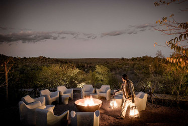 Singita Lebombo Lodge Ourdoor lounge