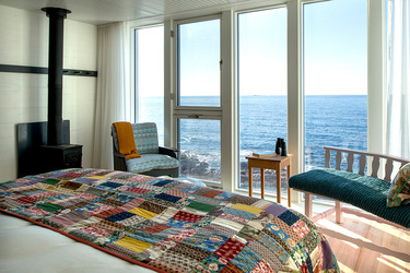A Newfoundland suite at Fogo Island Inn on Fogo Island, Newfoundland, Canada