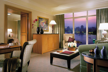 Suite with views of the Nile at Four Seasons at Nile Plaza in Cairo, Egypt