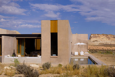 Girijaala Suite exterior  at Amangiri in Canyon Point, Utah