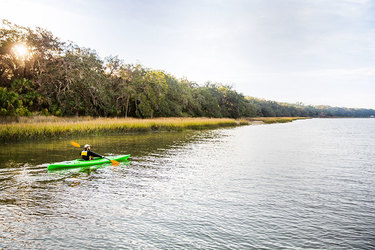 Kayaking excursion at Greyfield Inn in Golden Isles, Georgia.