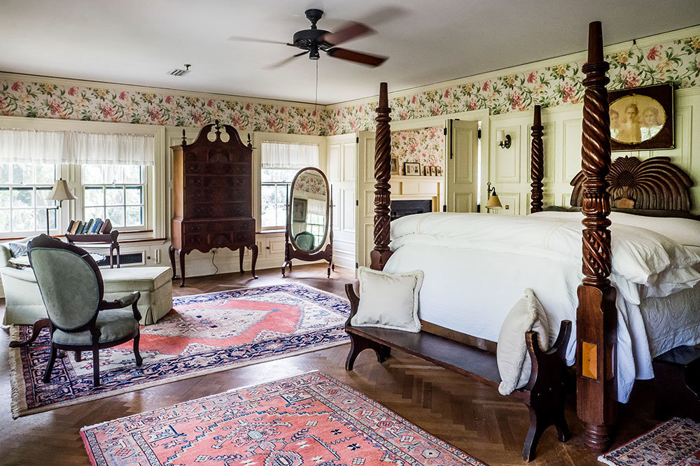 The Master Suite at Greyfield Inn in Golden Isles, Georgia.