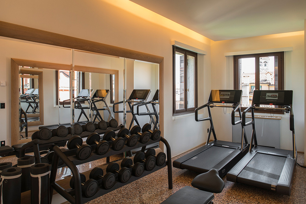 The fitness center at Aman Venice in Venice, Italy