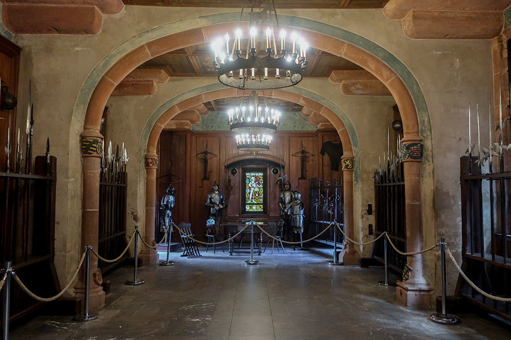 The Hall of Arms at Château du Haut-Kœnigsbourg in Orschwiller, France