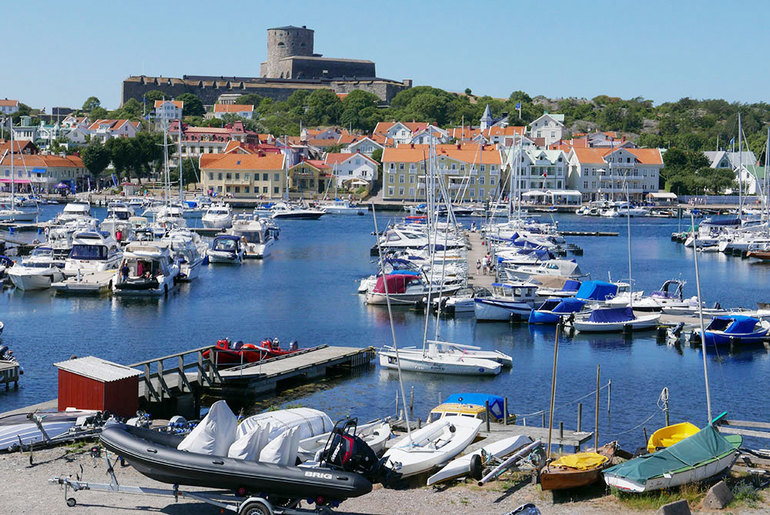 Boats in the harbor in Marstrand, Sweden - Photo by Hideaway Report editor