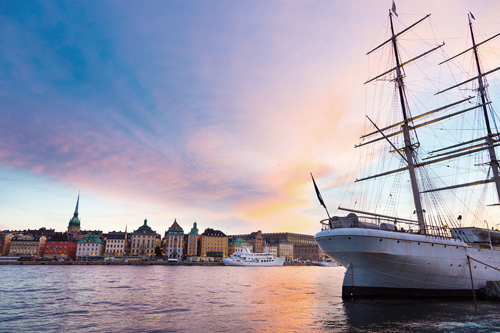 The harbor in Stockholm