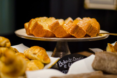 Breakfast cakes at Valverde Hotel, Lisbon, Portugal
