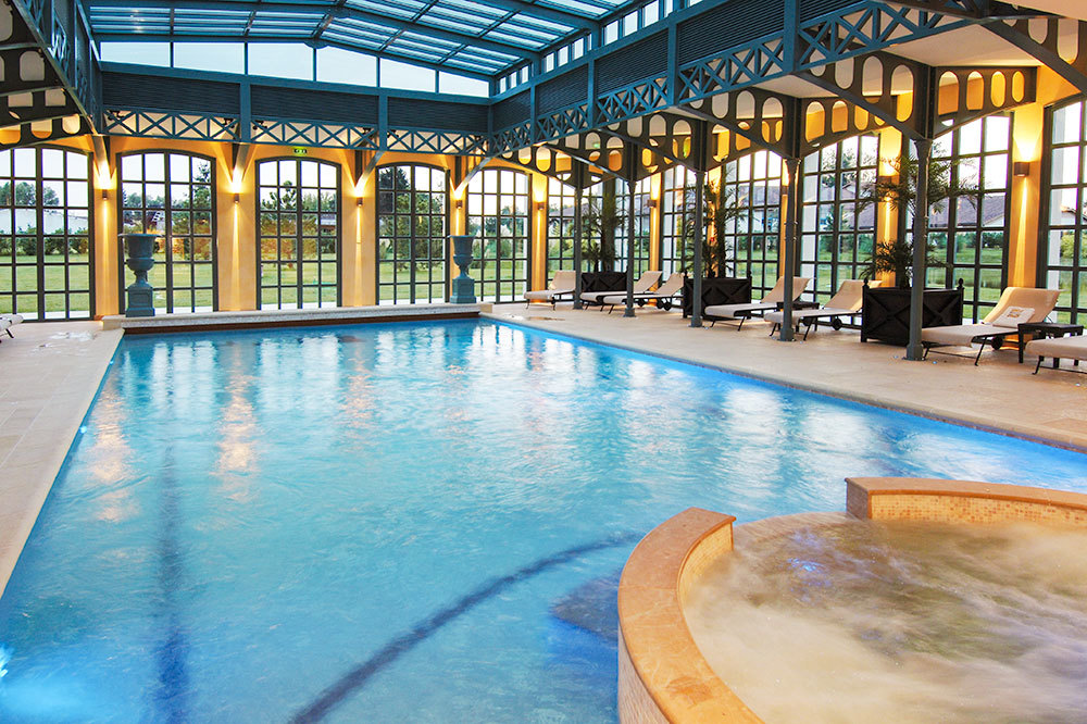 Indoor pool at George Blanc Parc & Spa in Beaujolais, France